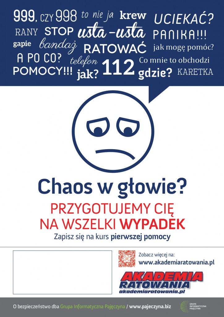 Plakat Akademia Ratowania